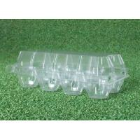 Waterproof PVC Transparent Egg Trays , 8 Cavities Egg Carton Packaging for sale