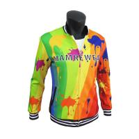China Stylish Sublimation Casual Polyester Sports Jacket With Pockets Comfortable for sale