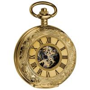 Best Men's Antique Mechanical Skeleton Chain Pocket Watch ,Men's Mechanical Vintage Pocket Watch wholesale