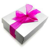 Cute cardboard gift box with handle for sale