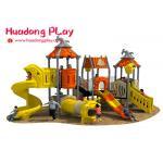 China Kindergarten Outdoor Playground Slides , Kids Commercial Playground Equipment for sale
