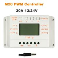 Whaleflo 20A MPPT and PWM mode Solar charge Controller 12V 24V Auto Work Solar Panel regulator LCD display for sale