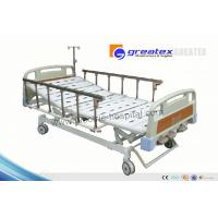Wholesale Home care hospital beds with rails , Three Revolving Levers Manual Medical Bed from china suppliers
