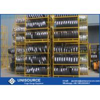 Wholesale Pallet Storage Shelves OEM , Powder Coated Steel Stacking Racks For Tyre from china suppliers