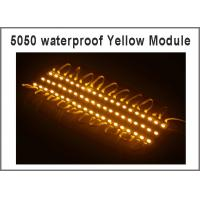 Wholesale 5050 3 LED Module light Yellow Waterproof IP67 DC12V,LED channel letter High Brightness from china suppliers