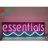 Quality Neon Window Signs With DC 12 Volt Black Backing Pink Words Using At Home for sale