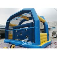 Quality Kids N Adults Inflatable Football Goal shoot With big jumping pad for interactiv for sale