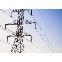 Quality Hot dip Steel Transmission Tower Q235B / Q345B Material With Angle Steel Member for sale