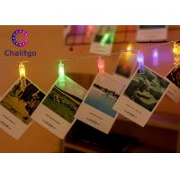 Wholesale LED Photo String Lights With Clips , Home Decor String Lights Pure Copper Wire from china suppliers