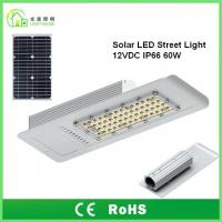 Best IP66 Solar Energy Street LED Lights 60 W with 10 Years Warranty , TUV CE RoHS wholesale