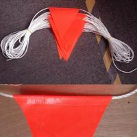 Best Durable Bright Orange Safety Bunting Flag With Double Stiching wholesale