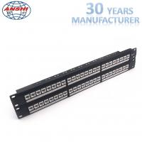 Wholesale Network Unshielded Patch Panel Loaded With Keystone Jack 48 Ports 2u Cat6 UTP from china suppliers