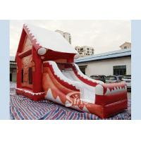 Quality Commercial grade inflatable Christmas jumping castle with slide for kids and for sale