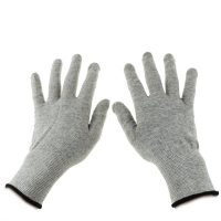 Wholesale Grey Carbon Fibre 40D Silver Conductive  Gloves from china suppliers