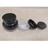 Wholesale Black Cap Small Plastic Jars , Plastic Makeup Containers For Powder Storage from china suppliers