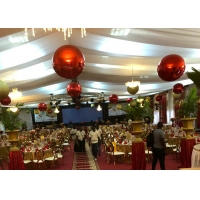 Buy cheap Christmas Decorative Ball 60cm Red PVC Inflatable Mirror Ball from wholesalers