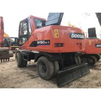 China 2010 Year Used Wheeled Excavators DOOSAN DH150W-7 96KW Engine Well Maintenance on sale