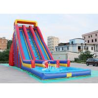 Wholesale 10m high giant inflatable water slide for adults made of 0.55mm pvc tarpaulin material from china suppliers