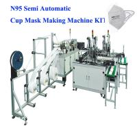 Wholesale Semi Automatic N95 Cup Mask Making Machine KIT for making N95, KN95, FFP2,FFP3 Cup Medical Mask, video support service from china suppliers