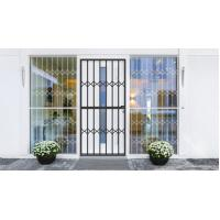 Wholesale Grey Tempered Glass Aluminium Sliding Security Doors Customized Shape from china suppliers