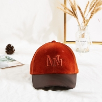 Wholesale Velvet Adjustable Orange 62cm Embroidery Baseball Cap from china suppliers