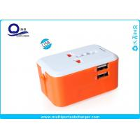 Wholesale Mini Portable 5V 2.4A  USB Travel Adapter , Worldwide Travel Adaptor With 2 USB Port from china suppliers