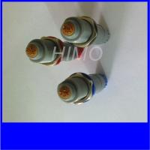 China Medical Plastic Circular Connectors Lemo Redel 1P Size 8pin Plug And Socket for sale
