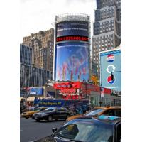 Curved Corner P16mm Flexible LED Display , Outdoor Led Display Boards