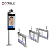 Wholesale IP65 400CD/M2 Biometric Face Recognition Temperature Terminal from china suppliers