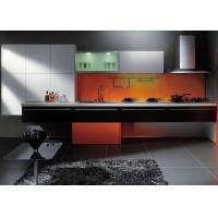 Lacquer Finish Painted Tranditional Kitchen Cabinets , Hotel Kitchen Cabinets