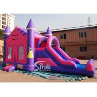 Wholesale 4in1 pink kids party inflatable princess bounce house with slide from Guangzhou Inflatable factory from china suppliers