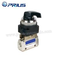 3 Way 2 Position Pneumatic Valve MSV86321PB , Round Green Button Mechanical Air Valve for sale