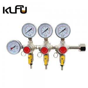Wholesale Max Inlet Pressure 2000PSI Three Valves CO2 Pressure Regulator from china suppliers