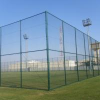 Wholesale 200*50mm PVC Coated Chain Link Mesh Fence Panels For Playground from china suppliers