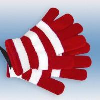 Wholesale 100 percent Acrylic Knitted, Striped Magic Gloves from china suppliers