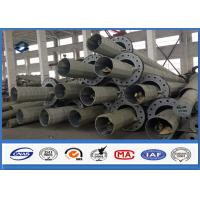 Best 50FT 55FT Galvanized Electric Metal Power Pole With Base Plate Installation wholesale
