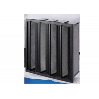 Wholesale High Capacity V Bank Filter Activate Carbon Filter Remove VOCs CO2 from china suppliers
