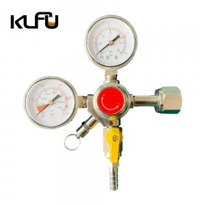 Wholesale Working Pressure 60PSI CO2 Pressure Regulator Valve Dual Primary from china suppliers