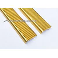 Wholesale Embedding Aluminum Stair Edge / Edging  With  Shiny Golden 45mm x 15mm from china suppliers
