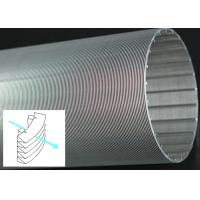 Best Large Diameter Stainless Steel Well Screen / 0.2MM Filtering Slot Wire Mesh Filter wholesale