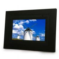 Wholesale 7-inch Digital Photo Frame, Supports SD and MMC Cards with the Dimension of 210 x 145 x 30mm from china suppliers