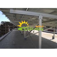 Quality Aluminum Flat Roof Solar Racking In Roof Solar Pv Mounting Systems Anodized for sale