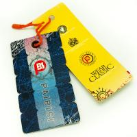 Bright Color Custom Shaped Clothing Hang Tags , Product Swing Tags For Jeans