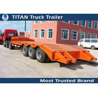 Wholesale 3 Axle 60 tons low bed heavy duty equipment trailers for construction machinery from china suppliers
