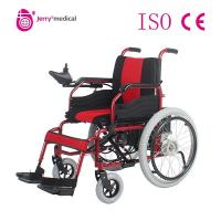 Intelligent Control Steel Folding Portable Electric Wheelchair , Electronic Wheel Chair