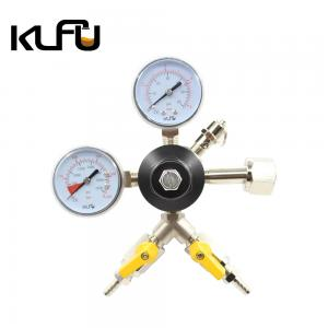 Wholesale Double Port First Stage Decompression 60PSI 80PSI CO2 Pressure Regulator from china suppliers