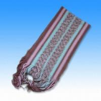 Buy cheap 100% Acrylic Multi-color Striped Scarf with Weight of 200g from wholesalers