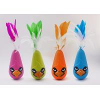 Bird Shaped Design Wobble Cat Toy Non Toxic Material With Natural Feathers