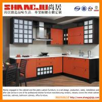 China Antique Red Solid Wood Kitchen Cabinet on sale