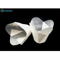 Wholesale Eco Friendly White Lotus Paper Cups , Touched Smoothly Tulip Cupcake Holders from china suppliers